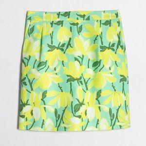 J crew factory basketweave floral mini skirt
